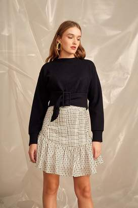 C/Meo COLLECTIVE Cropped Belt Sweater