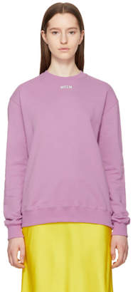 MSGM Purple College Logo Sweatshirt
