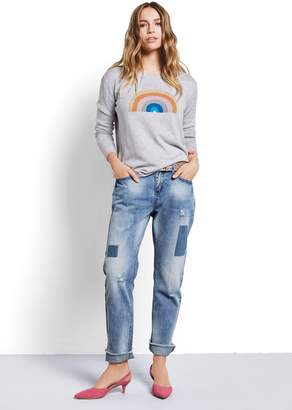 Hush Crop Patch Jeans