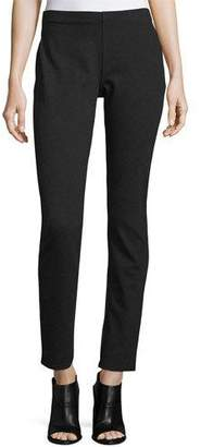 Eileen Fisher Slim Ponte Pants, Petite, Charcoal, Plus Size