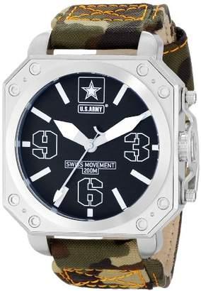 Wrist Armor Men's WA254 C4 Stainless Steel Analog Display Swiss Quartz Watch with Camouflage Strap