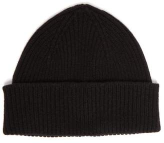 Paul Smith Ribbed Cashmere Blend Beanie Hat - Mens - Black
