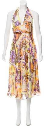 Milly Printed Silk Dress w/ Tags