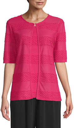 East Fifth east 5th Womens Round Neck Elbow Sleeve Cardigan