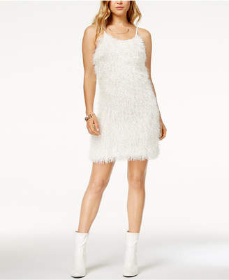 Glam by Glamorous Adjustable Shaggy Mini Dress, Created for Macy's