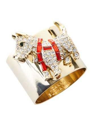 Joanna Buchanan Scottie Dog Crystal Napkin Rings, Set of 2