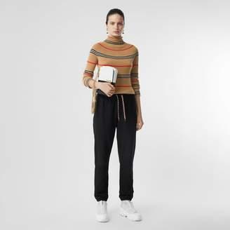 Burberry Icon Stripe Cashmere Turtleneck Sweater