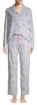 BedHead Two-Piece Printed Pajama Set