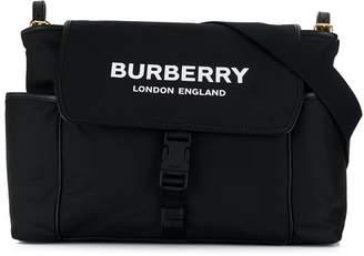 Burberry logo print changing bag