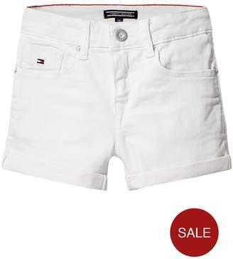 Tommy Hilfiger Girls Skinny Denim Shorts