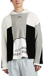 A-Cold-Wall* Men's Logo-Embroidered Wool-Blend Oversized Sweater - Black