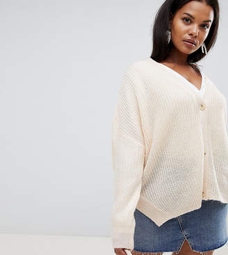 Micha Lounge Curve Oversized Cardigan With Side Splits