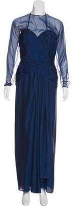 Oscar de la Renta Gathered Evening Dress