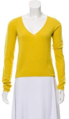 Marni V-Neck Cashmere Sweater Yellow V-Neck Cashmere Sweater