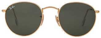Ray-Ban Round Metal in Metallic Gold. $150 thestylecure.com