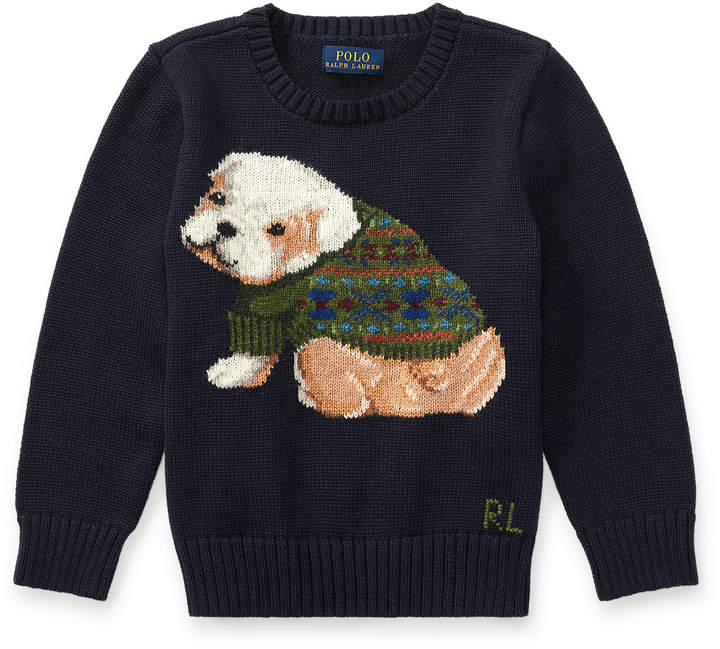 Dog Cotton-Blend Sweater