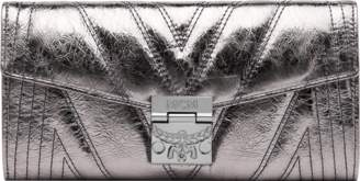 MCM Patricia Crossbody Wallet In Quilted Metallic Leather