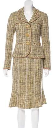 Rena Lange Tweed Skirt Suit