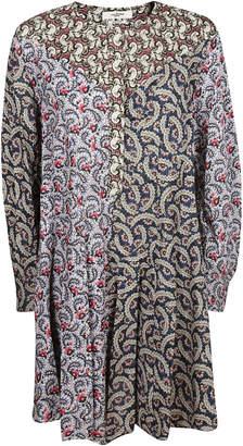 Etoile Isabel Marant Lissande Contrast Floral Print Dress