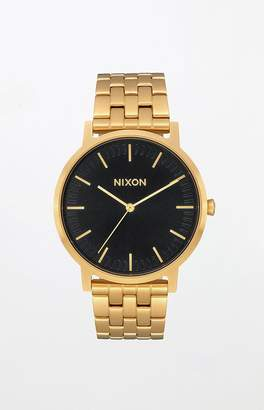 Nixon Porter Gold & Black Watch