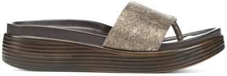 Donald J Pliner FIFI19, Metallic Leather Platform Sandal