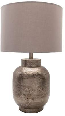 Surya Silverhill Table Lamp by Surya, Pewter/Beige Shade