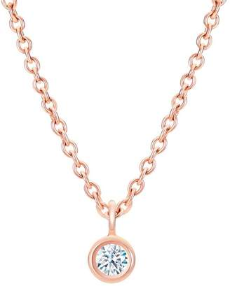 De Beers My First Rose Gold One Diamond Pendant