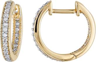Affinity Diamond Jewelry Diamond Hoop Earrings, 14K, 1/5 cttw, by Affinity