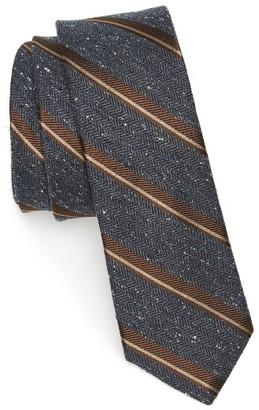 Men's The Tie Bar Stripe Nep Silk Skinny Tie $19 thestylecure.com