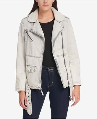 Levi's Oversized Acid Wash & Sherpa Fleece Jacket