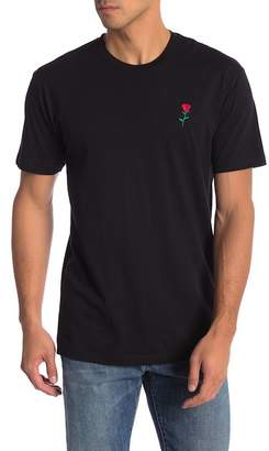 Riot Society Embroidered Rose Tee
