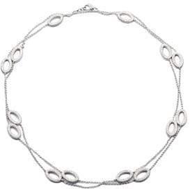 Adriana Orsini Pave Crystal Open Oval Station Necklace