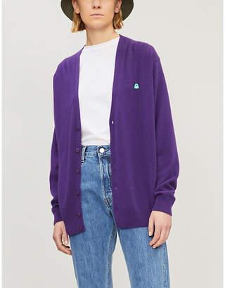 Benetton Unisex V-neck wool-blend cardigan