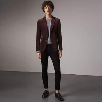 Burberry Soho Fit Velvet Tailored Jacket
