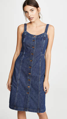 1bc28c6d54e Madewell Denim Button Front Tank Dress