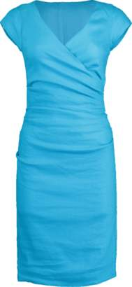 Nicole Miller Stetch Linen Wrap Dress