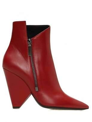 Saint Laurent Niki Red Leather Boots