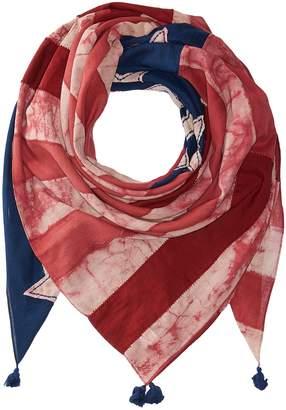 Polo Ralph Lauren Indigo Patchwork Flag Scarf Scarves