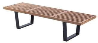 Mod Made Mid Century Modern Natural Wood Slat Bench (Natural)
