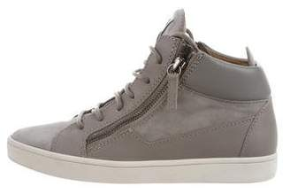 Giuseppe Zanotti High-Top Leather Sneakers