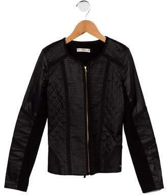Supertrash Girls' Quilted Zip Front Jacket