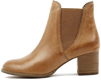 Django & Juliette Sadore Dark tan Boots Womens Shoes Dress Ankle Boots
