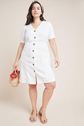 Pilcro and the Letterpress Pilcro Button-Front Dress