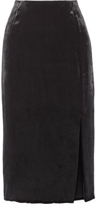 Jason Wu - Velvet Midi Skirt - Black $895 thestylecure.com