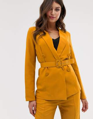 Paper Dolls double breasted belted blazer