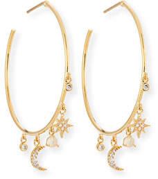 Tai Celestial Crystal Charm Hoop Earrings