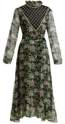 Dodo Bar Or - Angelina Crystal Embellished Floral Print Dress - Womens - Black Multi