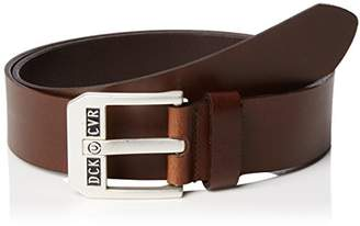 Duck and Cover Men's Classic-Leather-Belt,(Size:Small)