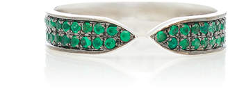 Ralph Masri 18kt White Gold and Emerald Ring