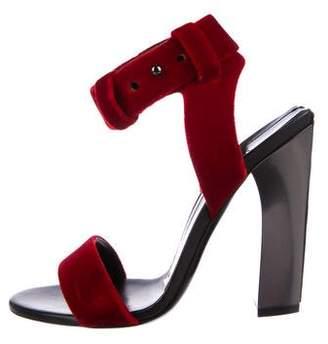 Tom Ford Velvet Multistrap Sandals